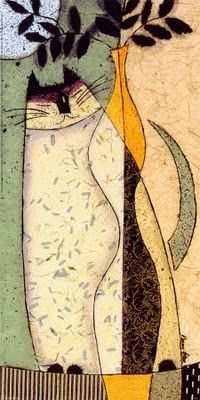 Still Life - Cat with a Vase - Penny Feder