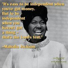 Greatest Gospel singer ever... Mahaila Jackson.