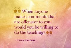 Exactly!  We HAVE to do the teaching.