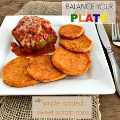 Frozen meals don& always mean sacrificing nutrition. Balance your plate with a fresh side dish like these simple roasted sweet potato coins! Nutrition Meal Plan, Nutrition For Runners, Chicken Marsala Pasta, Sweet Potato Nutrition, Veggie Recipes Healthy, Healthy Foods, Cheesy Potato Soup, Dark Chocolate Nutrition, Frozen Meals