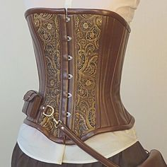 Custom Steampunk utility corset bronze by LillysWorkshop on Etsy, $290.00