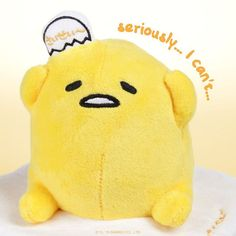 #Gudetama is too lazy to start a conversation, so this plush just repeats back…