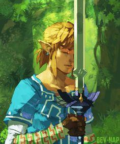BOTW's Link earning the Master Sword.