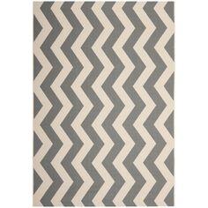 Safavieh Courtyard Grey/Beige Zig-Zag Indoor-Outdoor Rug | Overstock.com Shopping - The Best Deals on 7x9 - 10x14 Rugs
