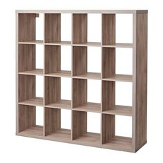 IKEA - KALLAX, Shelf unit, walnut effect light gray, , You can use the furniture as a room divider because it looks good from every angle. Shelves, Furniture Hacks, Kallax Ikea, Ikea, Stylish Storage Solutions, Shelf Unit, Cube Storage, Kallax Shelf Unit, Ikea Furniture Hacks