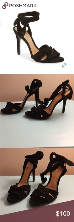 NWT Schutz Monia high heels Brand new in box Schutz Monia sandals in black suede. Heels are approximately 4.25 inches tall. Feel free to make an offer! SCHUTZ Shoes Heels