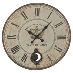 Bring the rustic beauty of wine country to your home d�cor with this artfully crafted design.  Product: Wall clockConstru...