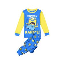 2016 New Arrival Print Clothes for Children Baby Boys Minions Pajama Set Kids Long Sleeve Cotton Batman christmas Clothing Sets(China (Mainland))