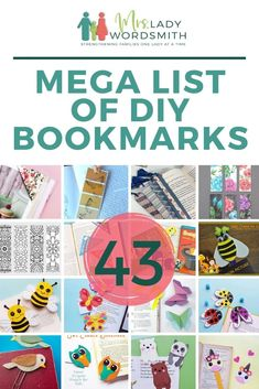 Here are 43 super-cute DIY bookmarks, a little something for all ages. #bookmark #diy #free Monster Bookmark, Felt Bookmark, Writing Activities, Activities For Kids, Bonding Activities, Paint Chip Cards, New Testament Books, Cute Bookmarks, Craft Stick Crafts