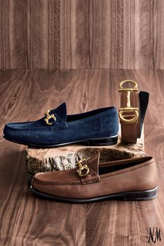 A classic shoe for classic style. Crafted with pebbled leather or supple suede, pair these Salvatore Ferragamo loafers with a loosely tailored suit.