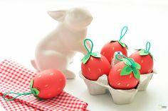 DIY Des œufs fruités pour Pâques - DIY Easter strawberries eggs