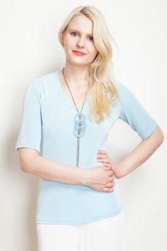 Slinky Short Sleeved Top - Kim & Co