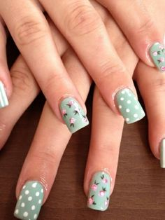 Cath kidston style nails | Look What I'm Wearing