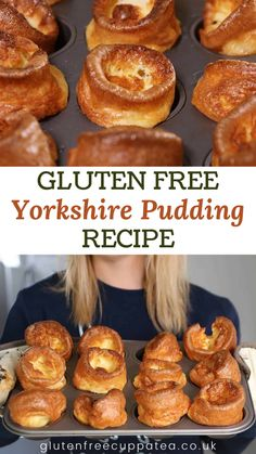 My gluten free Yorkshire pudding recipe is the ONLY recipe you'll ever need. They rise beautifully and only need 3 ingredients! Dairy free option too. Gf Recipes, Curry Recipes, Dairy Free Recipes, Cooking Recipes, Best Gluten Free Desserts, Celiac Recipes, Gluten Free Dinner, Gluten Free Cooking, Yorkshire Pudding Recipes