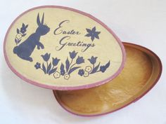 Vintage Easter Bunny Chocolate Candy Box on Etsy $19.99