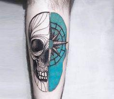 Skull tattoo by Kat Alden