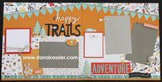 Two Page Scrapbook Layout Page Kit Dreamin Big Travel Outdoors Hiking Boys Summer Explore Adventure Bugs #ctmhdreaminbig #scrapbooking #pagekits #scraptabulousdesigns #cricutexplore