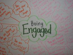Classroom did an activity on being engaged in class.  First Day activity