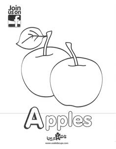 """Celebrate September and apple picking season with USA Kids' """"Apples"""" coloring sheet!"""