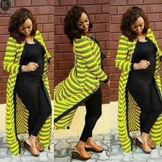 Top 22 Beautiful Ankara Kimono Jackets Every Fashionista Should Be On - WearitAfrica Latest African Fashion Dresses, African Print Dresses, African Print Fashion, Africa Fashion, Latest Ankara Styles, Ankara Fashion, African Prints, African Fabric, African Attire