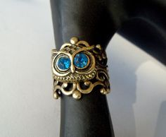 ring by CandiSuesCreations Owl Jewelry, Jewelery, Jewelry Accessories, Owl Bracelet, Owl Ring, Beautiful Owl, Owl Art, Cute Owl, Form