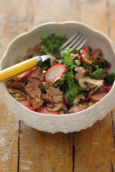 As Minhas Receitas: Salada de Atum com Cogumelos e Pickles de Rabanetes