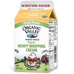 Organic Valley Heavy Whipping Cream - Dress up your desserts with the freshest, most heavenly organic whipping cream on earth.