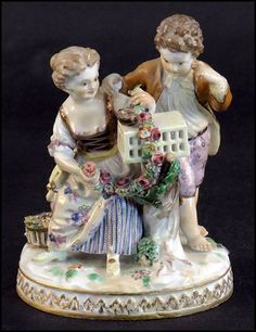 MEISSEN PORCELAIN FIGURAL GROUP. German, early 20th century
