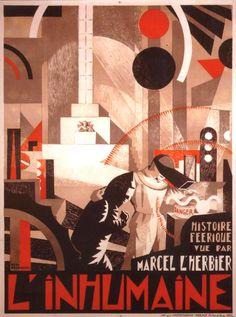 L'inhumaine - Marcel l'Herbier - poster from Djo Bourgeois