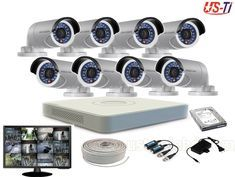 Package Including... 01. 08 Units Full HD 2MP (1080p) Night vision CCTV security Hikvision Camera 02. 08 Channel Hikvision DVR 03. 1000 GB Sata HDD 04. 08 Units High Quality AC/DC Adapter 05. 16 Unit High Quality Video Balun 06. 150 feet Cat-6 Video Cable 07. USB 2 & LAN PORT 08. Mouse x 1 pcs 09. Monitor Esonic 19'' LED Key Futures: 01 Year Warranty HD Quality Video Auto Night Vision Video 65 Foot (20 Meter) Coverage Range Available in Plastic and Metal Body Ultra Durable Cc Camera, Hd Quality Video, Camera Prices, Security Solutions, Ac Dc, Hdd, Night Vision, Monitor, Packaging