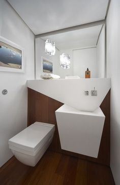 Fractal Pad contemporary powder room
