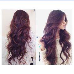 Loose wavy curls