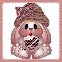 Precioso alfabeto de conejitas amorosas. | Oh my Alfabetos!