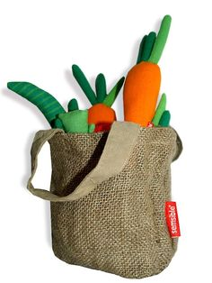 Cestita de verduras de juguete comercio justo