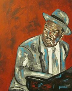 Original Acrylic Jazz Art Paintings by Ken Joslin:  Count   Basie