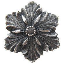 Opulent Flower Knob Antique Pewter…