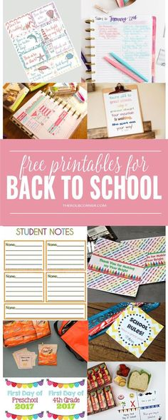 So many creative back to school printables to make life easier!