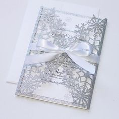 Winter Wedding Invitation, Snowflake Wedding Invitation, Glitter Invitation, Laser Cut Invitation in White and Silver Glitter. Perfect for a Winter Wedding or Special Event …. Snowflake Invitations, Glitter Invitations, Laser Cut Wedding Invitations, Elegant Invitations, Christmas Wedding Invitations, Invitation Fete, Laser Cut Invitation, Invitation Templates, Party Invitations