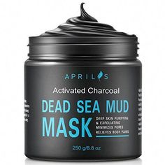 Dead-Sea-Mud-Mask-with-Activated-Charcoal-Deep-Cleansing-Clay-Face-Mask-for-Reduction-in-Pores-Spots-Blackheads-Acne-Rejuvenated-to-Smooth-Moisturizing-Face-88-oz #CleansingMask Acne Face Mask, Clay Face Mask, Face Skin, Face Scrub Homemade, Homemade Face Masks, Charcoal Face Scrub, Charcoal Mask, Witch Hazel Face, Face Mask For Spots