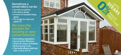 Check out this great new way to put a solid roof onto your EXISTING conservatory making it habitable throughout the whole year so not too hot in summer and not too cold in winter so I guess with energy saving ideas like this it's making your house more efficient too :)