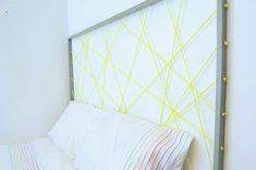 Une tête de lit avec de la corde fluo