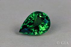 January's #Birthstone: #Garnet. One of the many colors of garnet is green. This is a green Tsavorite Garnet.