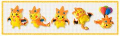 Starting February 7th, these Mega-Tokyo Pokemon Center mascot Pikachu figures will be available as gacha machine prizes at all Pokemon Centers in Japan