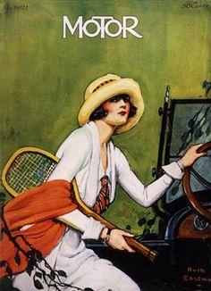 Motor magazine featuring tennis wear, 1923.