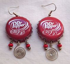 Dr. Pepper earrings | by Junksmith