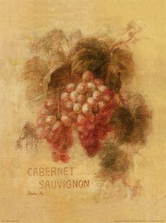 Danhui Nai Art Print - Cabernet Sauvignon Grapes