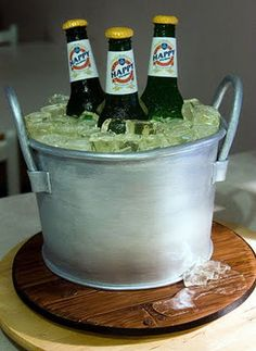 Thats a Cake? Cakes that dont look like Food - Beer bucket cake.  See more creative cakes http://thegardeningcook.com/cakes-that-dont-look-like-food/