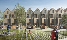 mikhail riches-A competition win for 20 townhouses within the redevelopment of BBC Television Centre at White City. Townhouse Interior, Modern Townhouse, Townhouse Designs, Brick Architecture, Residential Architecture, Architecture Colleges, Geometry Architecture, Architecture Artists, University Architecture