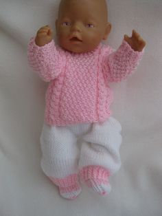 kit sold out Doll Patterns Free, Doll Clothes Patterns, Baby Knitting Patterns, Baby Patterns, Free Pattern, Crochet Pattern, Knitting Dolls Clothes, Crochet Doll Clothes, Knitted Dolls