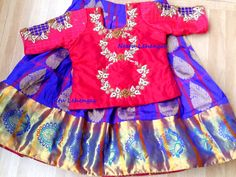 Pamper ur little ones with these hand picked Pure silk lehengas in custamised colors blouse can be custamised as anyones choice in hand embroidery r pattu zari ....price starts frm 5000/-for further details get in touch with our team....To order a similar dress for ur baby doll plz mail ur queries at neetulehangas@gmail.com..whats app @ 8184889999.. with attached dress pic n ur baby age..Thanq kanchipattu  pattulanga  kanchipuram  Puresilk  18 October 2016